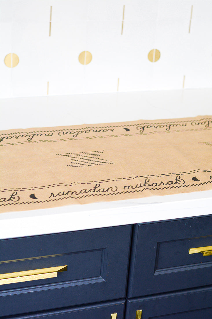 Ramadan Mubarak Boho table runner- disposable