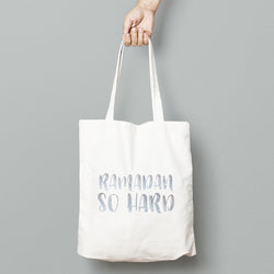 Ramadan so hard tote bag