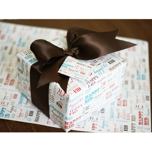 Decorative wrapping paper sheets TYPO- set of 2