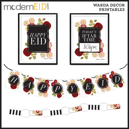 Floral Warda Decor Digital Printables