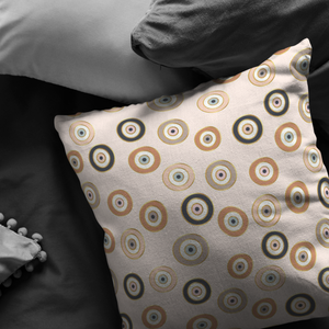 Karma Eyes pattern pillows