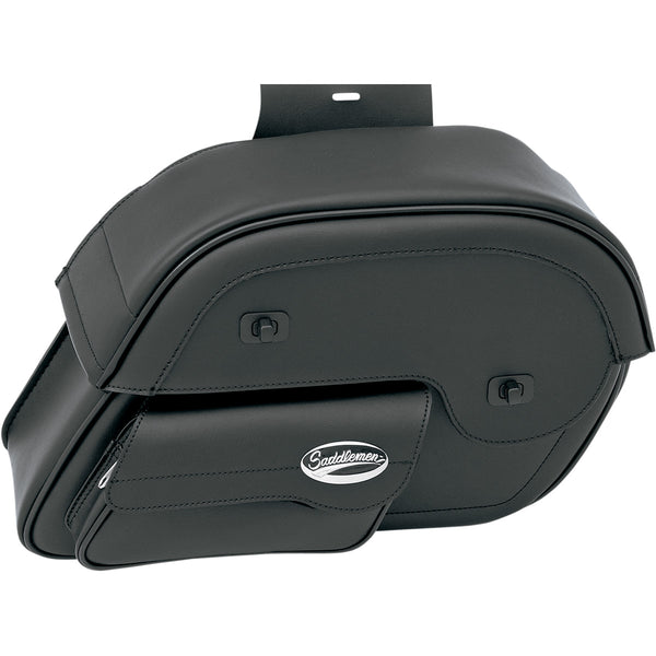 3501-0384 SADDLEMEN Large Cruis'n™ Slant Face Pouch Saddlebags SBAG-W/POUCH CRSN LG