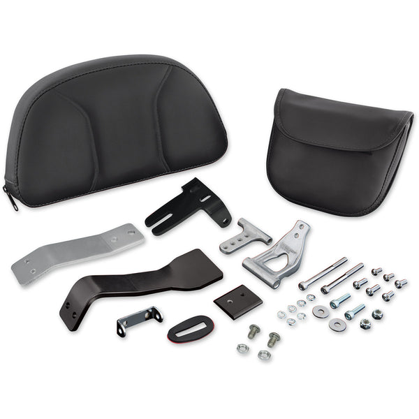 0822-0323 SHOW CHROME Large Removable Detachable Smart Mount™ Backrest BACKREST KIT CAN-AM LG