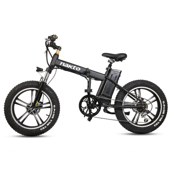 "Nakto 20"" Electric Bike Fat Tire Folding Mini Cruiser"