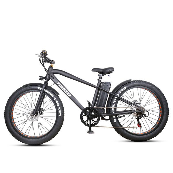 "Nakto Fat Tire Electric Bicycle 26"" Cruise(Black)"