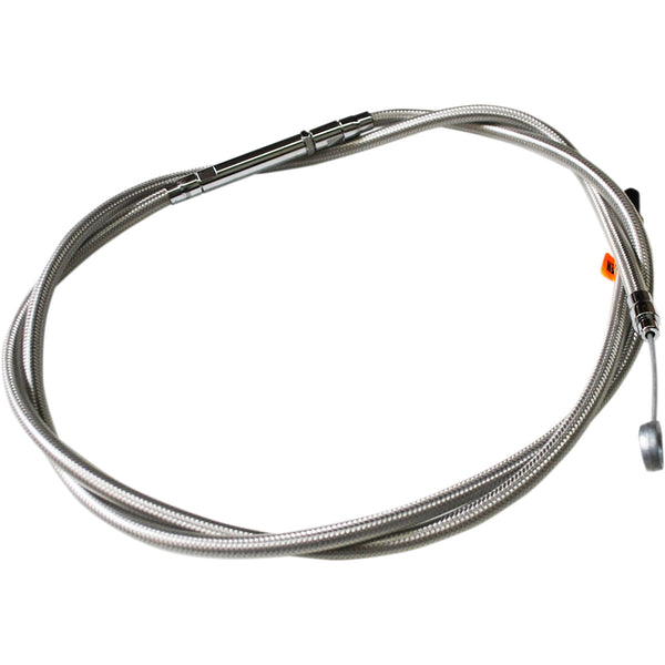 "0662-0460 LA CHOPPERS Braided Stainless Clutch Cable/Brake Line Kit CABLE KIT 15-17"" SCOUT"