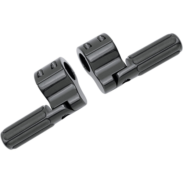 1624-0157 LINDBY Black Clamp-On Ribbed Footpegs FOOTPEG CLAMPON DOVE BLK
