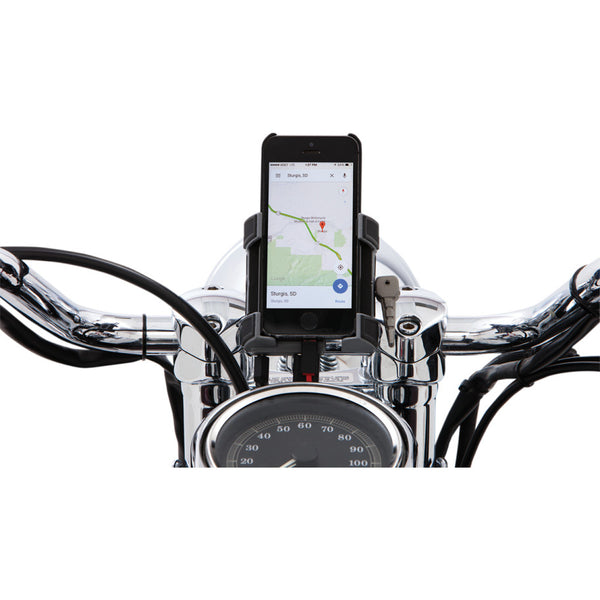 "CIRO Chrome 1 1/4"" Handlebar Mount Smartphone/GPS Holder"