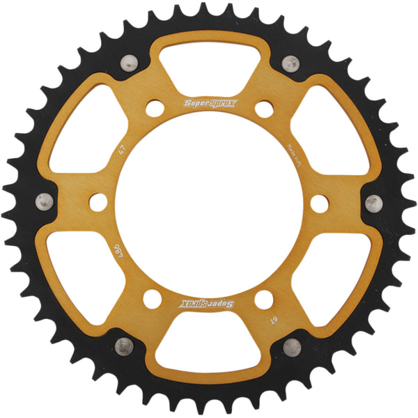 1210-2013 SUPERSPROX 520 47T Gold Stealth Rear Sprocket SPROCKET STEALTH 47T GLD