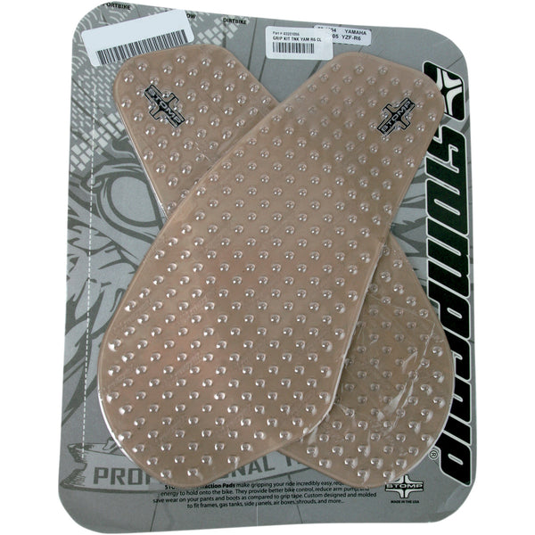 4320-1056 STOMPGRIP Clear Stompgrip Streetbike Traction Pad Tank Kit TRACTION KIT 55-10-0004