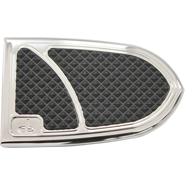 1610-0454 CARL BROUHARD DESIGNS Chrome Elite Brake Pedal Covers COVER BRAKE PDL 14IND CH