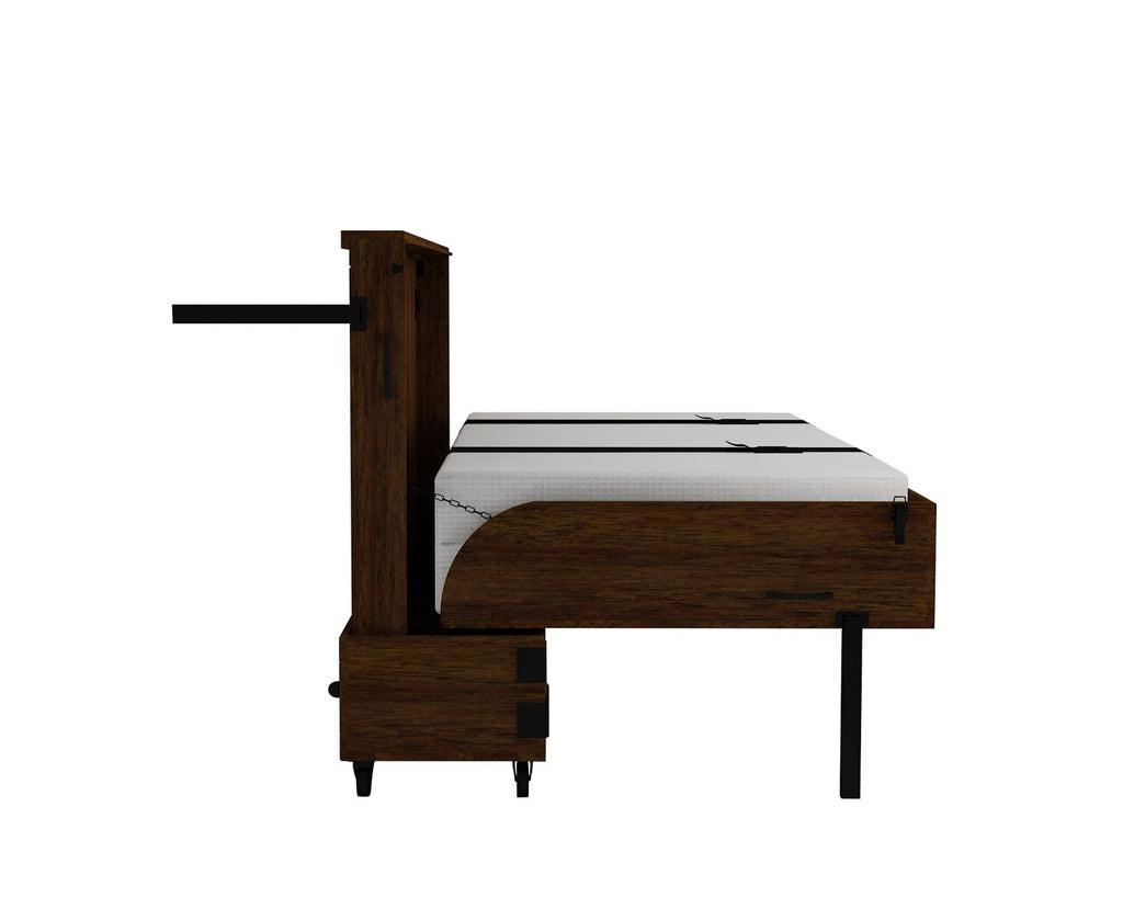 Xtrabed Queen Rolling Murphy Bed - Chocolat