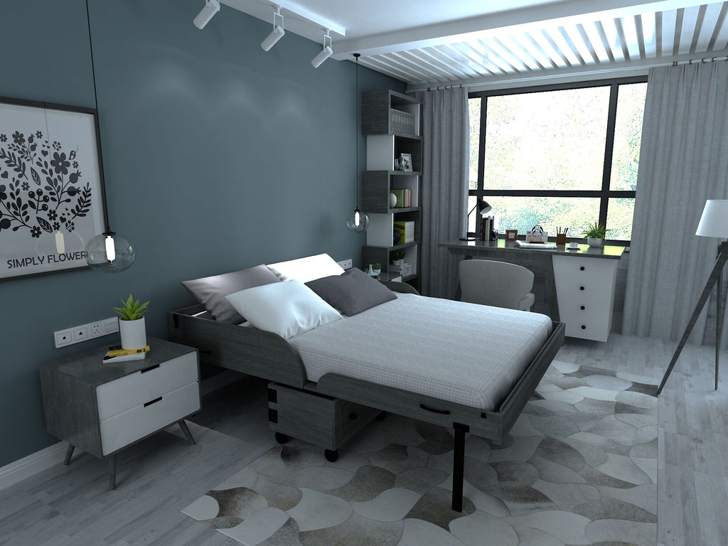 Xtrabed Queen Rolling Murphy Bed - Gray