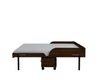 Birdsall Mid-Century Queen Rolling Murphy Bed Chocolat Finish - Moderne Style