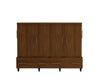 Birdsall Mid-Century Rolling Queen Murphy Bed Carmel Finish - Moderne Style