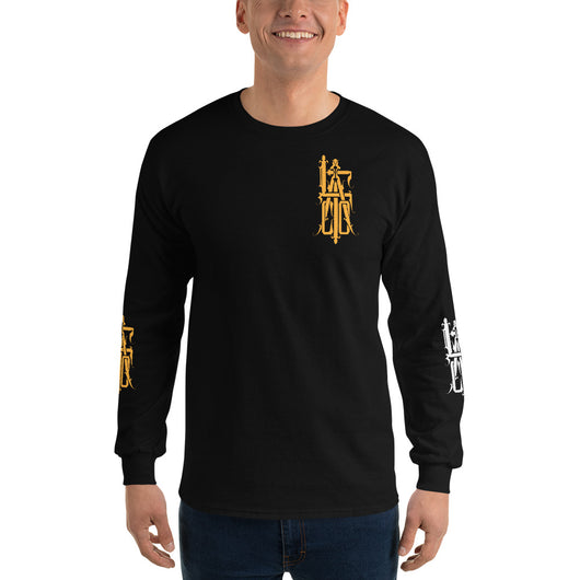Gold Monogram LAFCO logo long sleeve