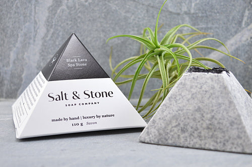 Black Lava Spa Soap Stone