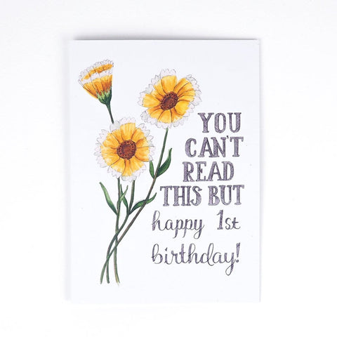 """Happy 1st Birthday"" Card"