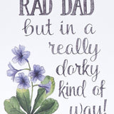 """You're A Rad Dad"" Card"