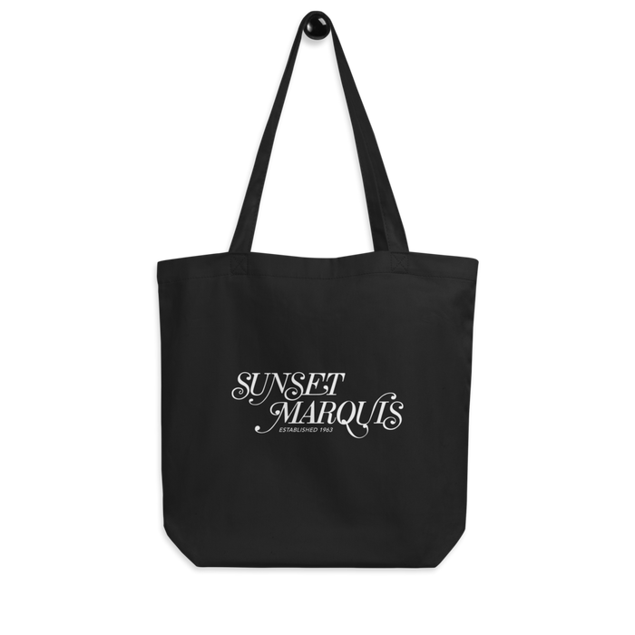 Vintage Logo - Black Eco Tote Bag