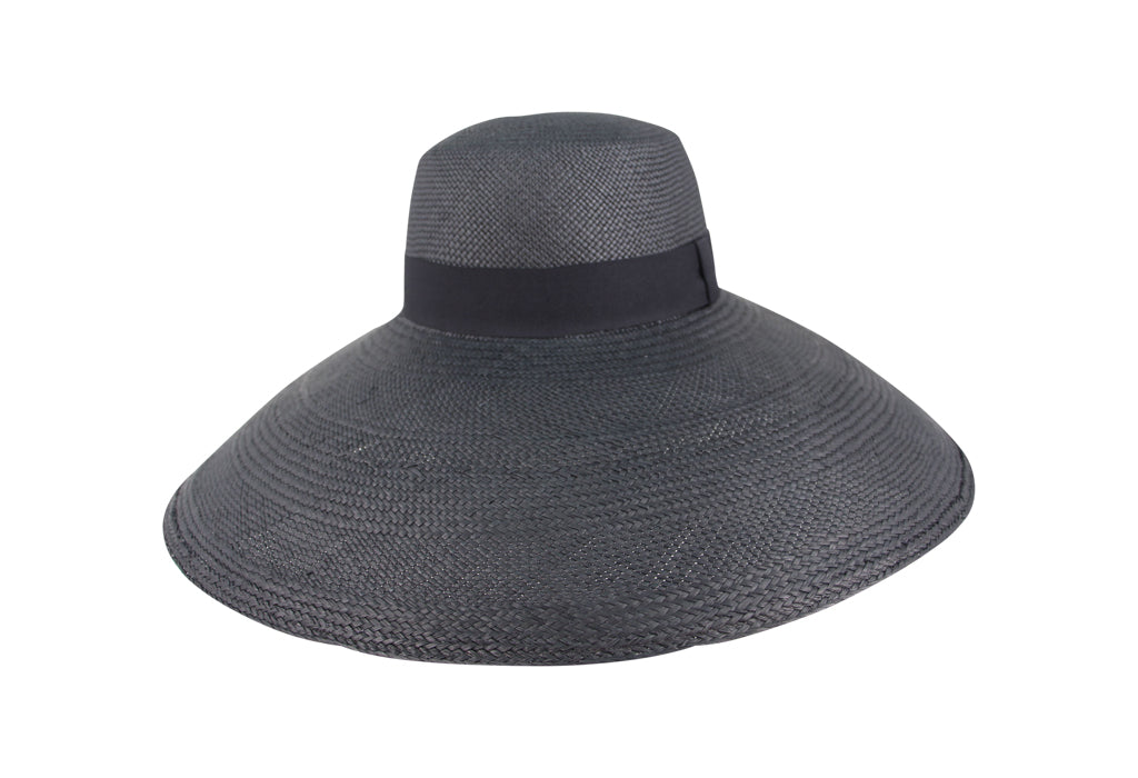 Palma Black Wide Brimmed Panama Hat