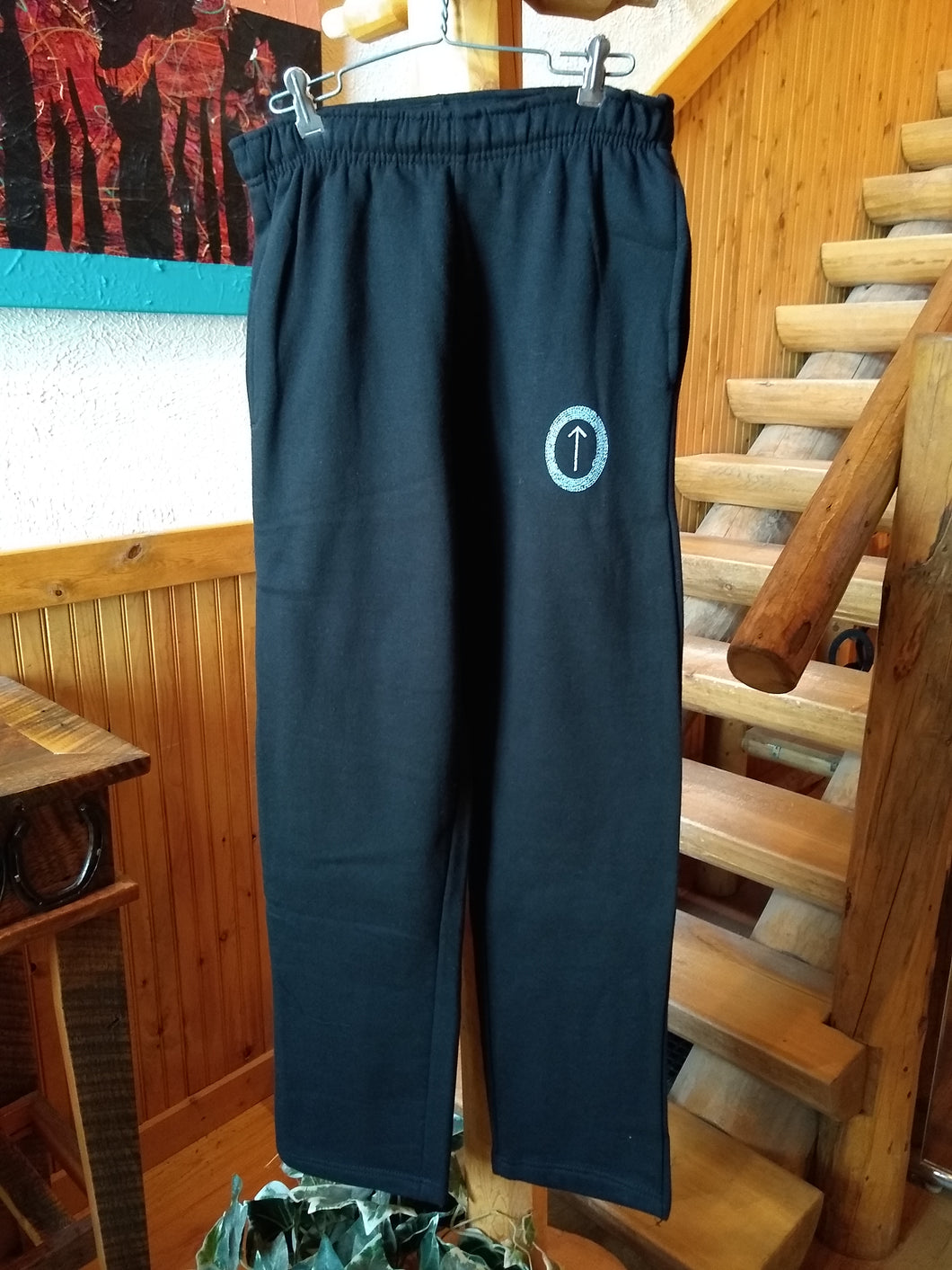 Black Arrowhead Lounge Pants