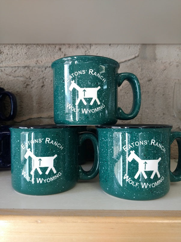 Green Eatons' Ranch with Stick Horse Mug