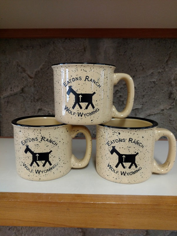 Creme Eatons' Ranch with Stick Horse Mug
