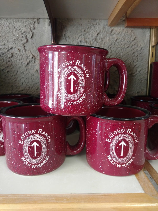 Burgundy Eatons' Ranch with Arrowhead Mug