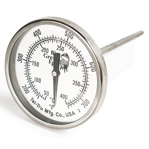 Stainless steel temperature gauge by Big Green Egg