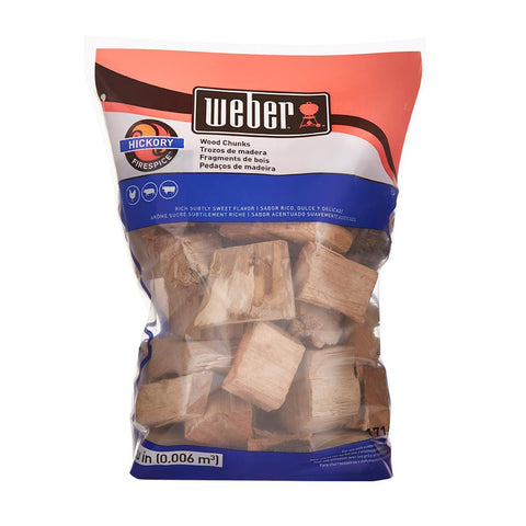 Weber Hickory Wood Chunks 4lb. Bag