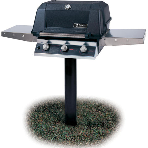 MHP W3G4DD Tri Burn Grill Head with Stainless Steel Shelves and SearMagic® Grids