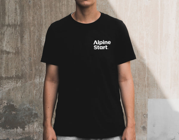 Alpine Start Logo T-Shirt - Black