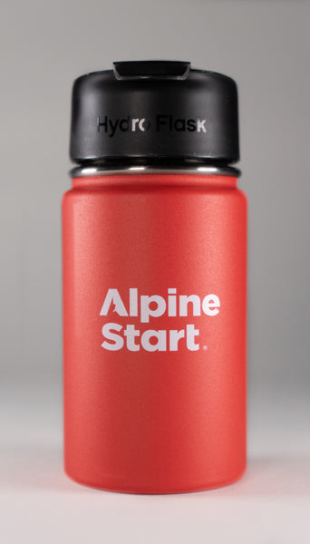 Alpine Start Instant Coffee | Hydro Flask Lava 12 oz