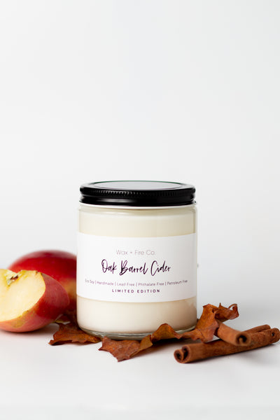 Limited Edition Oak Barrel Cider Soy Candle- here from now until March!