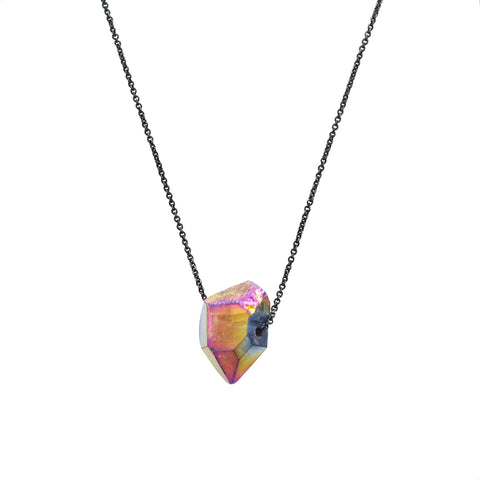 Diamond Flame Aura Necklace