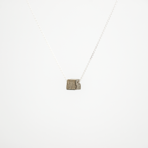 Piece of Earth - Pyrite Short Necklace - 925 Silver