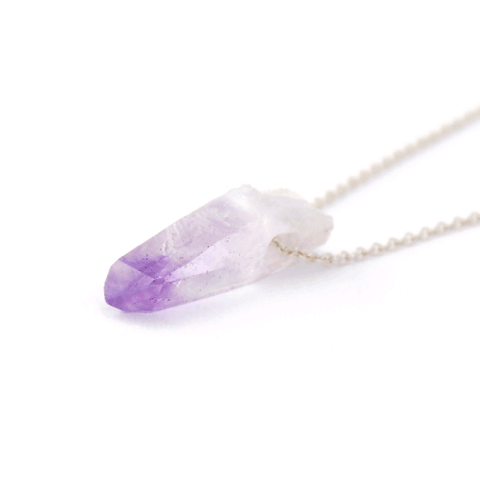 Veracruz Amethyst Crystal Necklace - 925 Silver