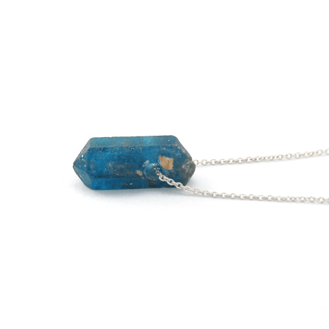Apatite Crystal Necklace - 925 Silver