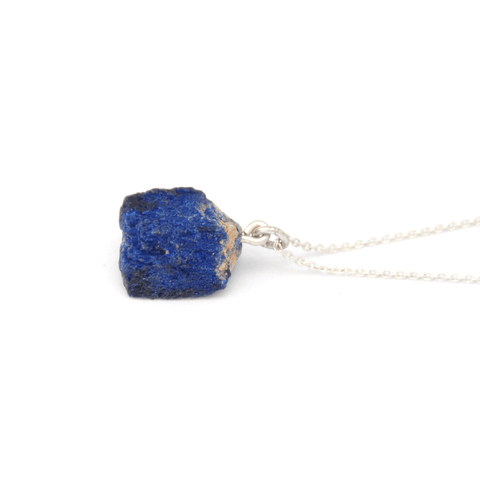 Piece of Earth - Azurite Drop Necklace - 925 Silver