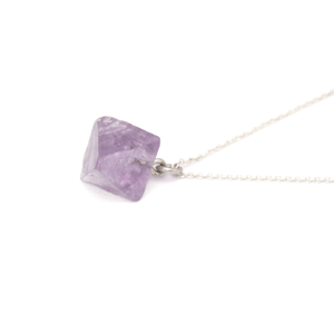 Piece of Earth - Fluorite Drop Necklace - 925 Silver