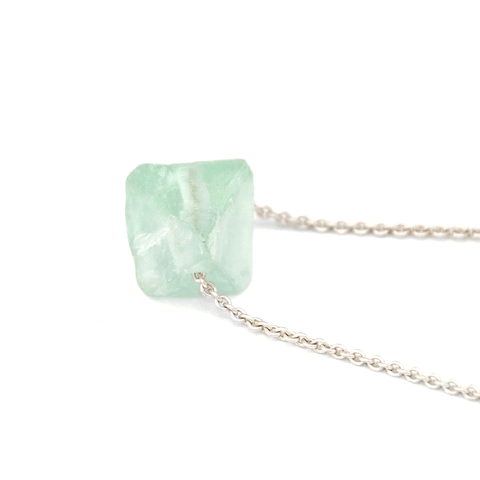 Piece of Earth - Fluorite Long Necklace - 925 Silver