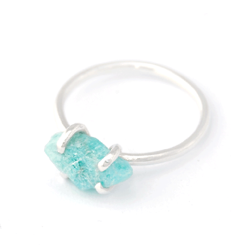 Piece of Earth - Amazonite Ring - 925 Silver