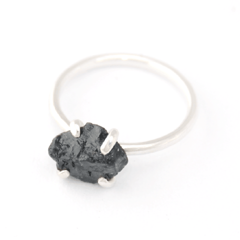 Piece of Earth - Black Tourmaline Ring - 925 Silver