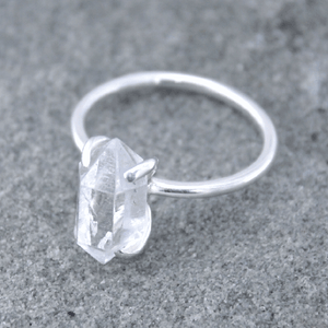 Piece of Earth - Herkimer Diamond Ring - 925 Silver