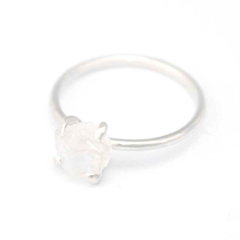 Piece of Earth - Quartz Ring - 925 Silver