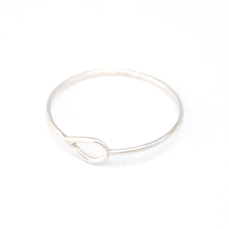 Scandinavian Drop Ring - 925 Silver
