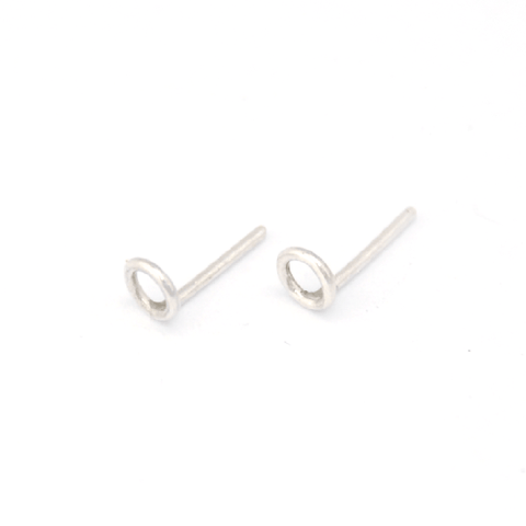Scandinavian Circle Earrings - 925 Silver