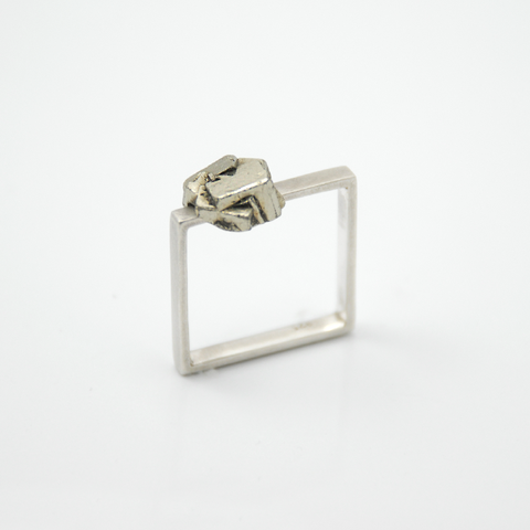 Symbio - Square Pyrite Ring