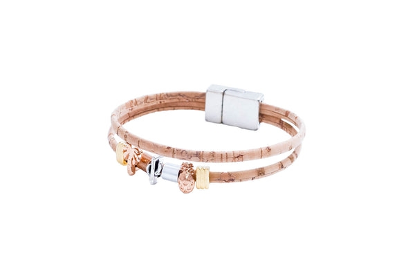 Cork Charm Bracelets for Women